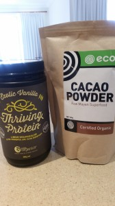 cacao and protein powder