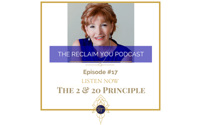Reclaim You Podcast Episode #17 The 2 & 20 Principle