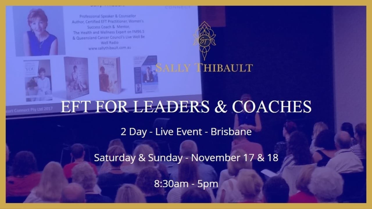 EFT TRAINING FOR LEADERS & COACHES – November 17 & 18, 2018