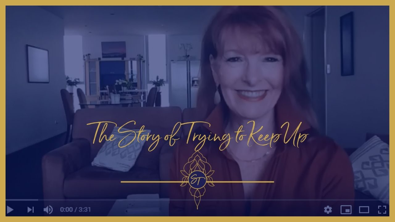 story of trying to keep up, sally thibault, emotional freedom techniques